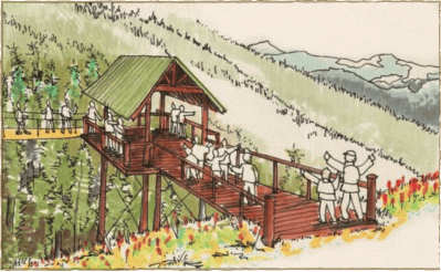 Illustration of Zipline at Breckenridge Resort